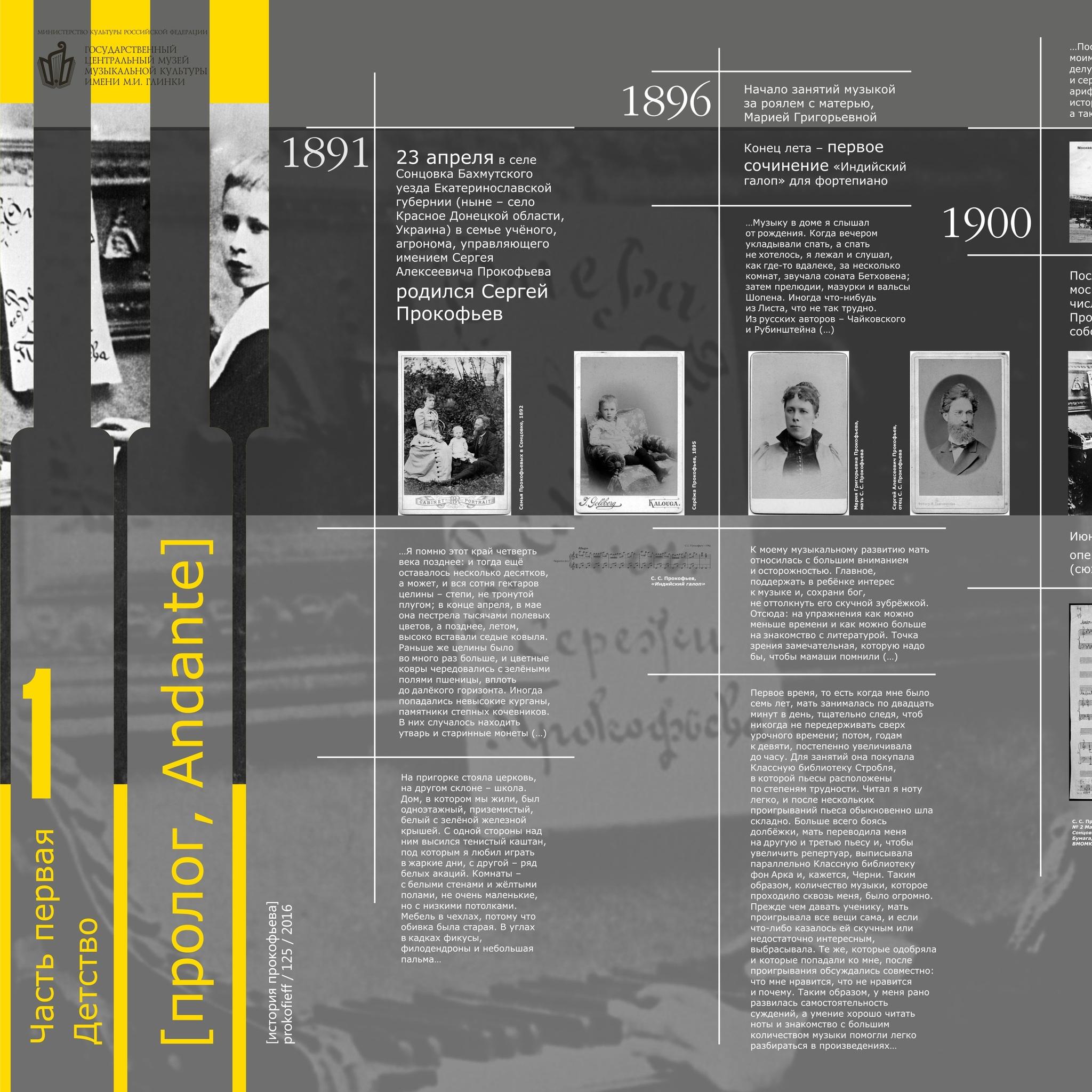 Выставка к 125-летию Прокофьева